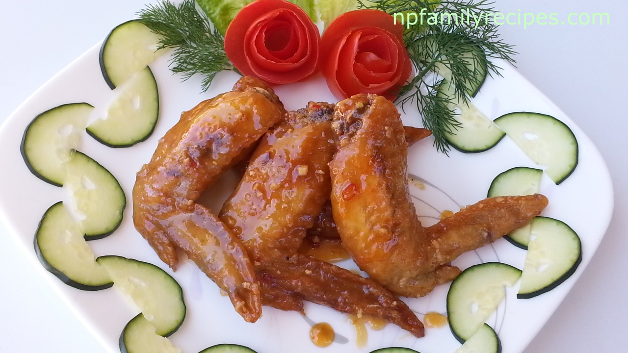 Fish sauce chicken wings c nh g chi n n c m m for Fishers chicken and fish