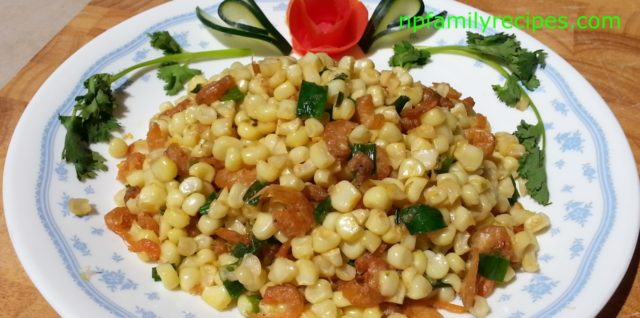 Stir Fry Corn with Dried Shrimps (Bắp Xào Tôm Khô) - NPFamily Recipes
