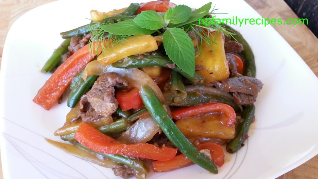 Stir Fry Vegetables with Beef (Thịt Bò Xào Rau Cải)