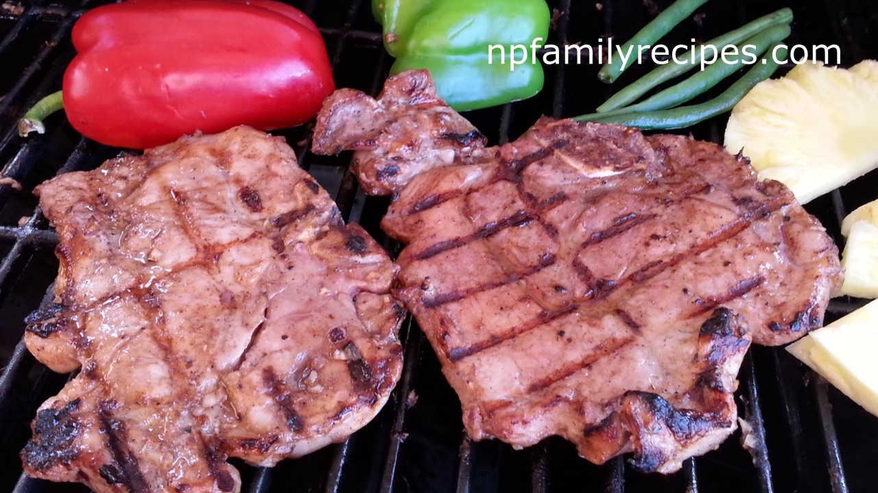 Grilled Pork Chops Recipe (Thịt Heo Nướng/Sườn Nướng)