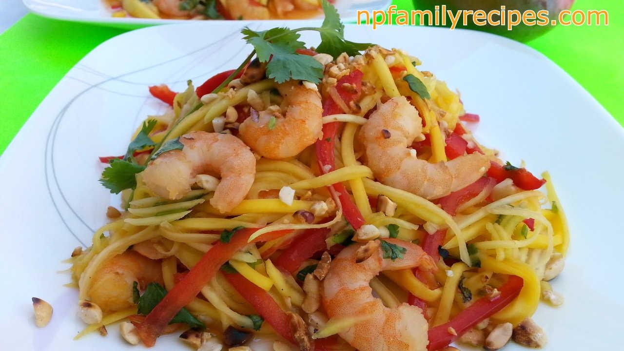 Spicy Thai Shrimp Mango Salad (Gỏi Xoài Tôm Thái Lan)