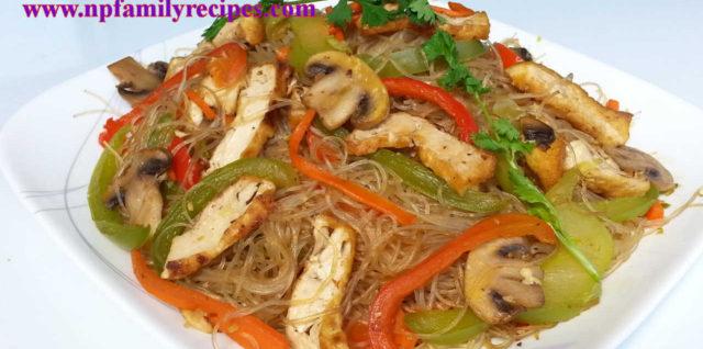 Vegetarian Stir-Fry Glass Noodle Recipe (Miến Xào Chay)