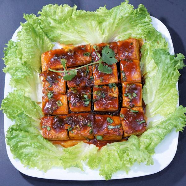 Sweet and Sour Tofu (Đậu Hũ Sốt Chua Ngọt) - npfamilyrecipes.com