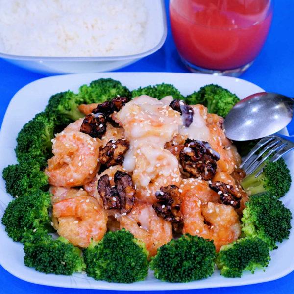 Honey Walnut Shrimp - Tôm Mật Ong Hạt Điều