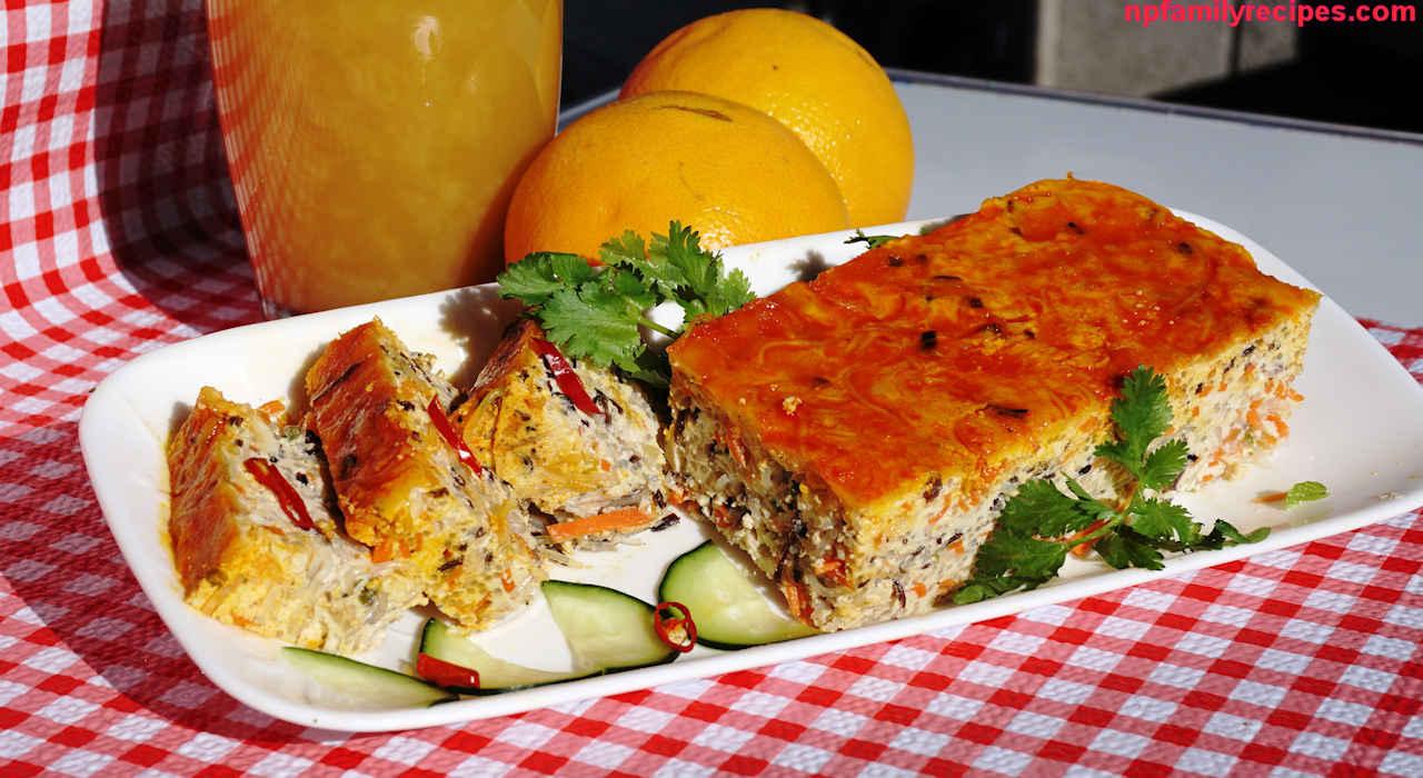 Vietnamese Vegetarian Steamed Meatloaf (Chả Trứng Chay)