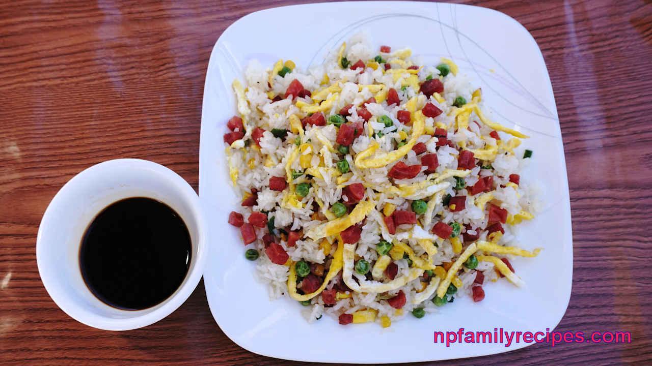 Chinese Sausage Fried Rice Recipe (Cơm Chiên Lạp Xưởng)