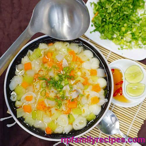 Rice Macaroni Pork Ribs Soup (Súp Nui Sườn Heo)