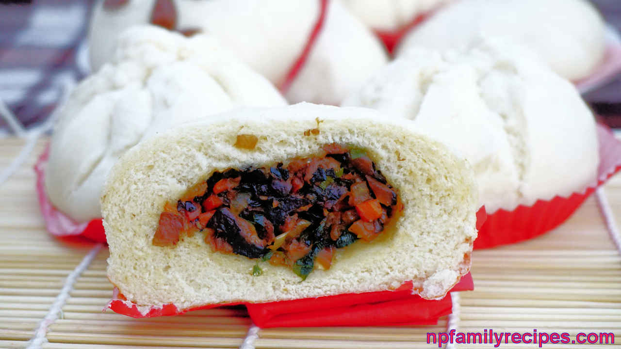 vegetarian steamed buns recipe