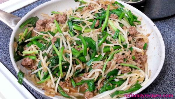 Stir Fry Beef Bean Sprout (Thịt Bò Xào Giá)