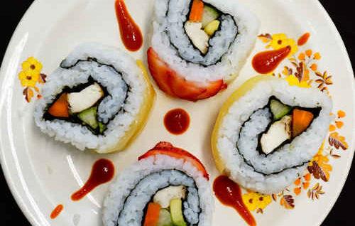 Vegan Avocado Tofu Sushi Rolls Recipe (Sushi Chay)